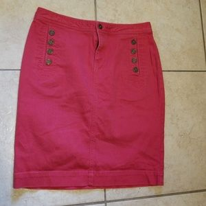 American Living Red Denim Skirt Size 4